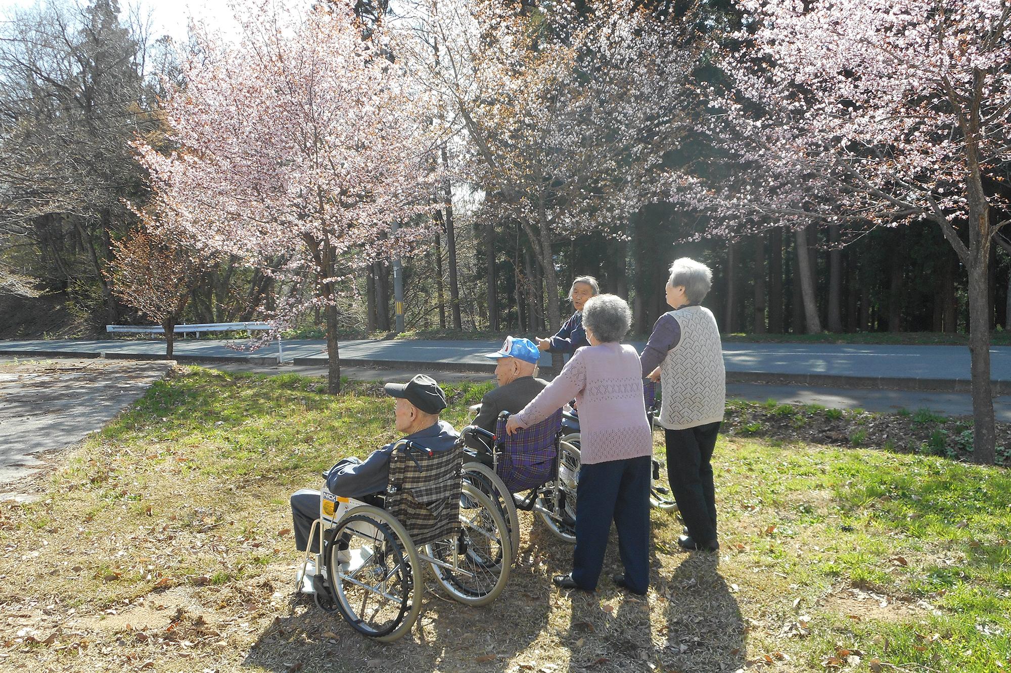高齢者生活福祉センターかたくりの園 春のお花見